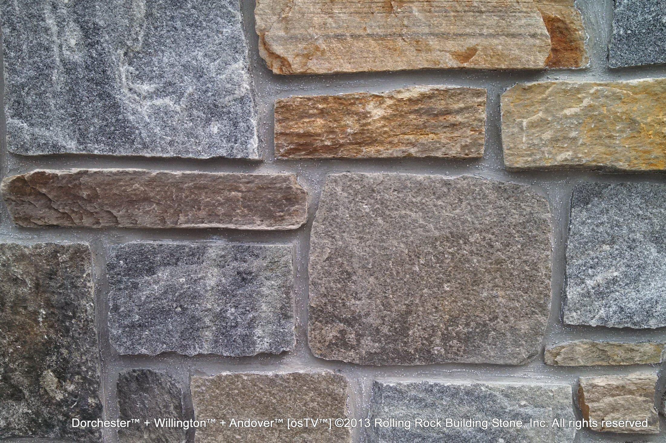Building Stone Veneer : Custom blends rolling rock building stone inc