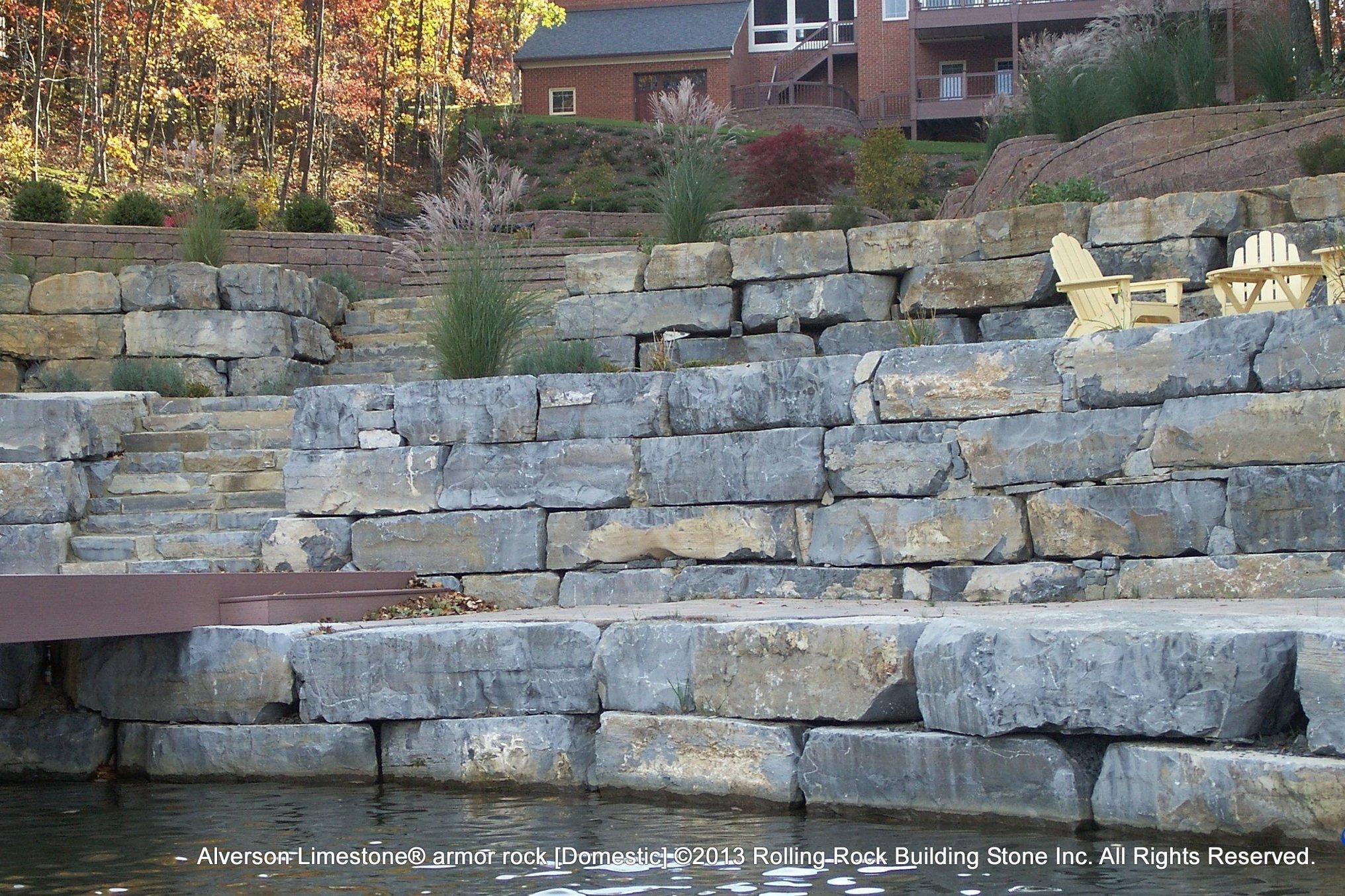 alverson limestone u00ae armor rock